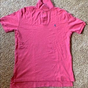 Men's Interlock Medium Salmon colored Polo